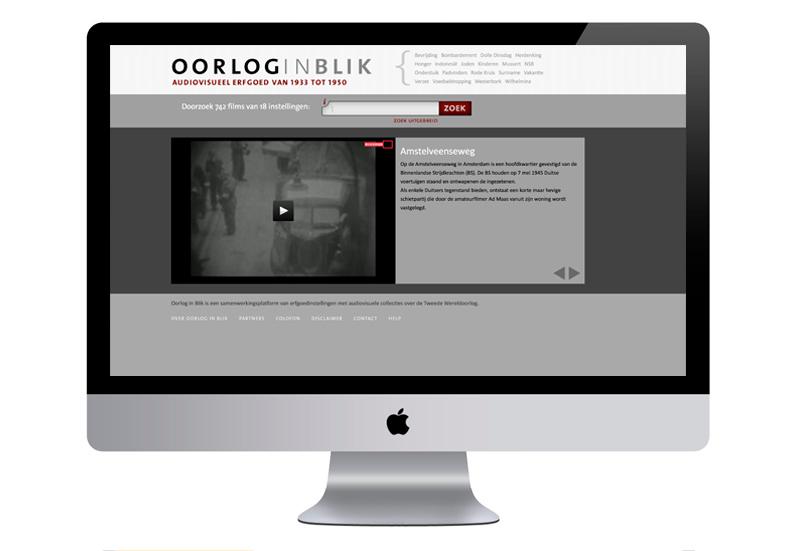 Website Oorlog in Blik