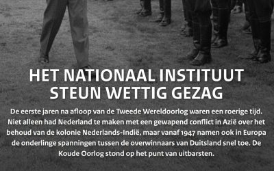 Het Nationaal Instituut Steun Wettig Gezag 1948-1958